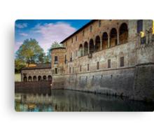 Italian Castle - San Vitale Castle of  Fontanellato Canvas Print