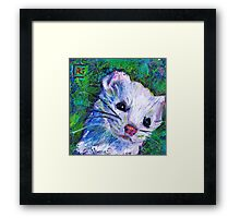 Earth Keeper: Ermine (Short-tailed Weasel) Framed Print
