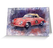 Porsche 356 Speedster Mille Miglia Greeting Card