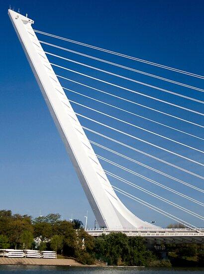 Alamillo Bridge, Andalucía, Sevilla, Spain by jmhdezhdez