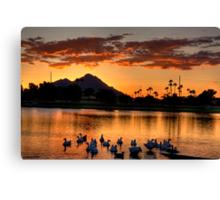 Sunset under Camelback Canvas Print
