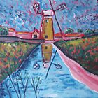Norfolk windmill by Ivor