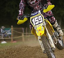 Motocross Yellow Bike by Frederic Chastagnol