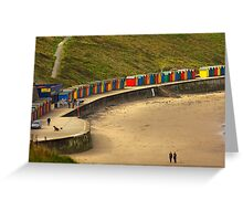 Beach Huts - Whitby Greeting Card