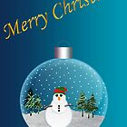Snowman Christmas Card by MaluC