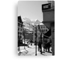 Mont Blanc Street Canvas Print