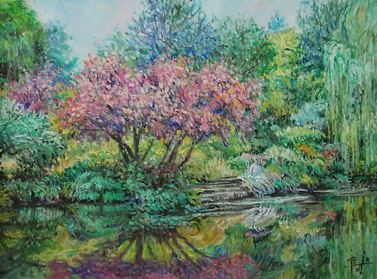 The Lake at Butchart Gardens by HDPotwin