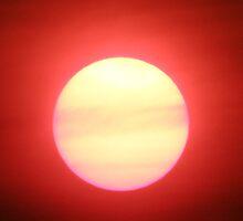 Bushfire sunset by CapturedByKylie
