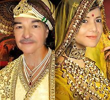 King Akbar & Wife Jodha by Sunil