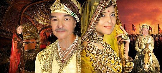 King Akbar & Wife Jodha by Sunil