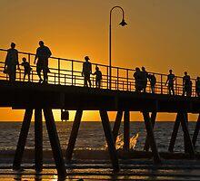 Sunset over Glenelg Jetty, Adelaide by SusanAdey