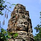 The Face, Bayon, Cambodia by Adam Martin