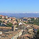 Italian panorama: Perugia's Monteluce district, the Tiber valley and the Apennines. by Philip Mitchell