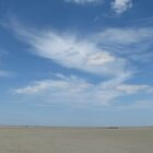 Summer sky over a Normandy beach by KatharineH