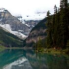 SUMMER EVENING  AT LAKE LOUISE by Raoul Madden