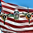 Old Glory and a B-25 by Jeff Ore
