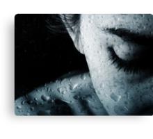 Woman and drops of rain Canvas Print