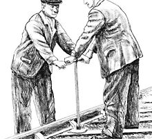 BR railway Platelayers by Woodie