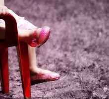 Red Chair Pink Shoes by thomasology