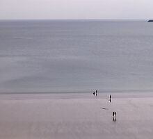 On the Beach, Tenby, South Wales by Matthew Walters