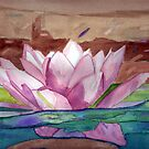 Stained Glass Waterlily by Christiane  Kingsley