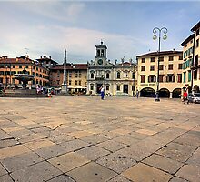 Market Square Udine Italy by David Freeman