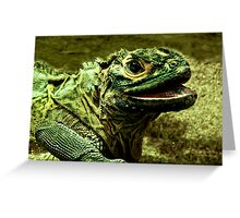 Philippine Sail-Finned Water Dragon II Greeting Card