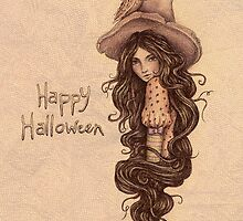 Witchy Halloween Card by brettisagirl