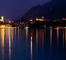 Malcesine Night Reflections by igotmeacanon
