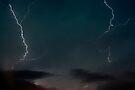 Double Lightning. by Michael Treloar