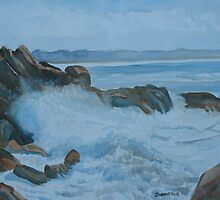 Breakers Below Yaquina Head I by JennyArmitage