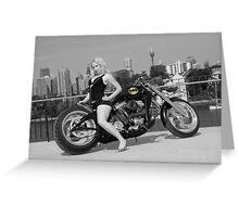 Batman: Custom Built Chopper Greeting Card