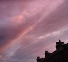 Pink sky at night by wendy1968