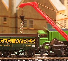 Stock yard - loading the wagons by Jon Lees