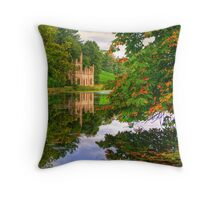 Painshill Park - HDR - Autumn Reflections Throw Pillow