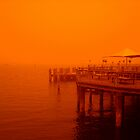 Manly Wharf, Sydney, Australia Severe sandstorm by Of Land & Ocean - Samantha Goode