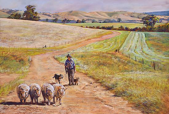 Moving the Rams (Whiteheads Creek) by Lynda Robinson