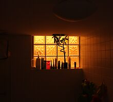 Red Dust Storm - Bathroom! by Mal Wood