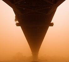 under the red bridge by Front Quarter Window