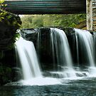 Waterfall at Rice Dam (Right Side) by Aaron Campbell