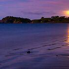 Bland Bay moonrise, Northland by Paul Mercer