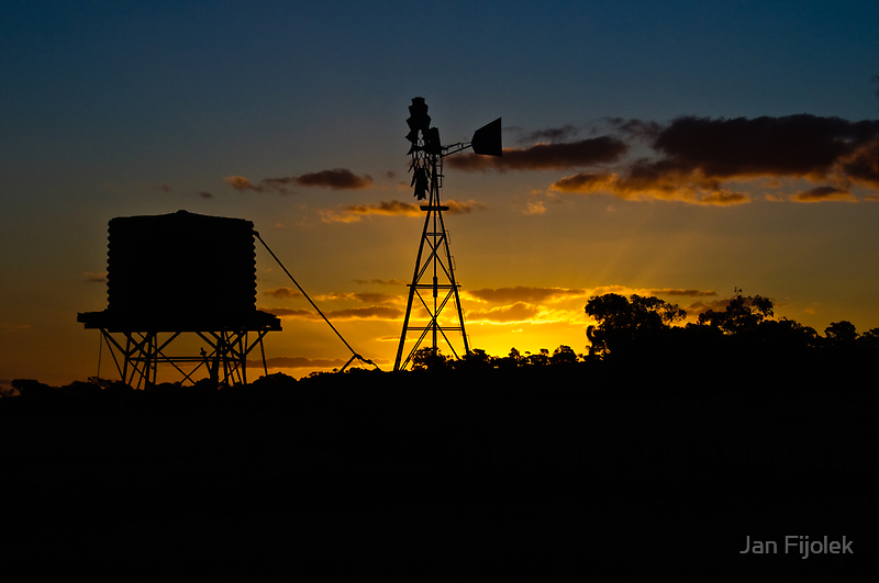 Outback Sunset by Jan Fijolek