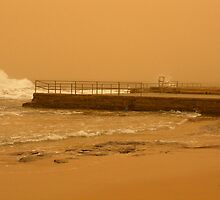 brown out .... ocean pool and soggy sky by Juilee  Pryor
