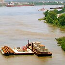 Mississippi River Is A Working River by Wanda Raines