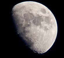 Moon on September sky by Karel Kuran