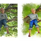 Tree Climber (water color in Photoshop) by susi lawson