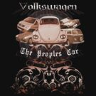 Volkswagen Tee Shirt: People's Car-Bronze by KombiNation