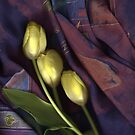 Three Yellow Tulips by Nancy Polanski