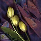 Three Yellow Tulips by Nancy Polanski