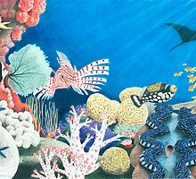 Underwater Rainbow - Coral Reef by Heather Ward